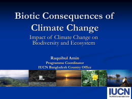Biotic Consequences of Climate Change