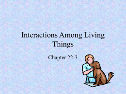 22-3 interactions among living things notes
