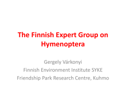The Finnish Expert Group on Hymenoptera