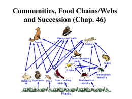 Trophic Levels in Food Chains and Webs (Chap. 46)