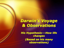Darwin`s Voyage & Observations
