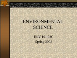environmental science - Clinton Community College