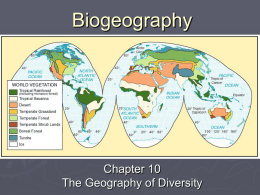 Chapter 10: The Geography of Diversity