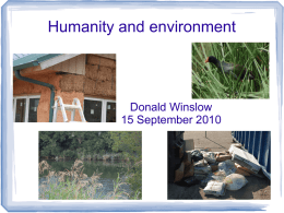 Humans and environment - Donald Edward Winslow