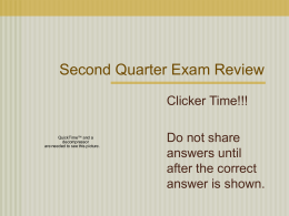 Second Quarter Exam Review