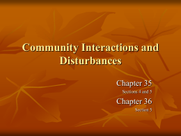 Community Interactions and Disturbances PPT