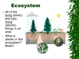 Ecology Terms