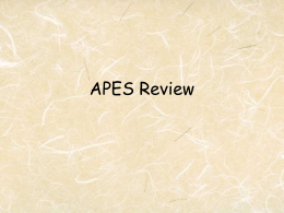 APES Review Show