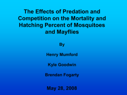 The Effects of Predation and Competition on the
