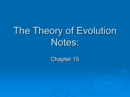 The Theory of Evolution Notes: