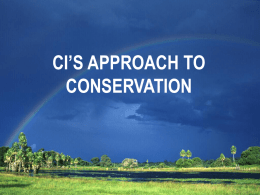 ci`s approach to conservation