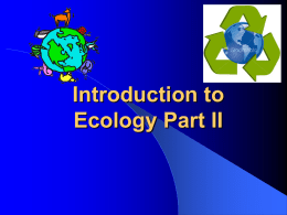 Introduction to Ecology Part II