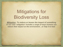 Mitigations for Biodiversity Loss