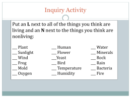 PowerPoint_Ecosystem Organization and Limiting Factors