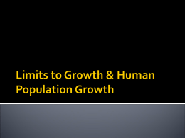 Limits to Growth Notes