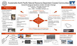 Sustainable North Pacific Natural Resource-Dependent