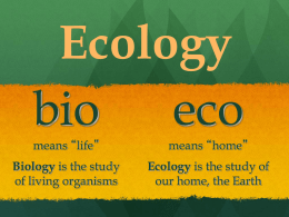 Ecology Intro 1L - Stosich Science