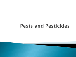 SNC1PL Pests and Pesticides