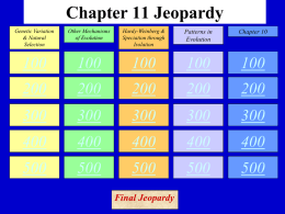 Chapter 11 Jeopardy - Jutzi