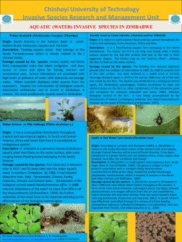Aquatic (water) invasive species in Zimbabwe...download here