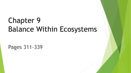 Chapter 9 Balance Within Ecosystems