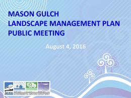 Phase Two – Monitoring and Adaptive Management