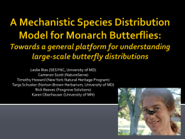 ESA 2013 Slides - The North American Butterfly Monitoring Network