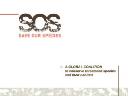 Save Our Species Programme
