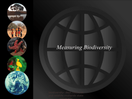 measuring biodiversity - Midlands State University