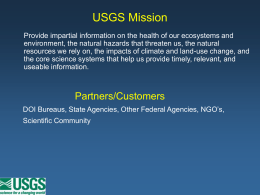 USGS Science Capabilities
