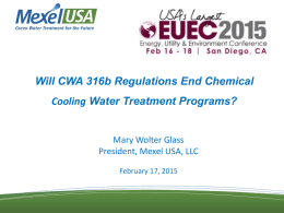 Will CWA 316b Regulations End Chemical Cooling