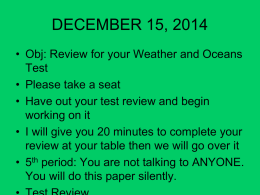 Weather and Oceans Test