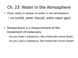 Ch. 23 Water in the Atmosphere