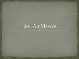 20.1 Air Masses
