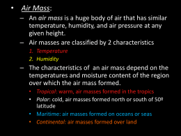Air Mass Notes