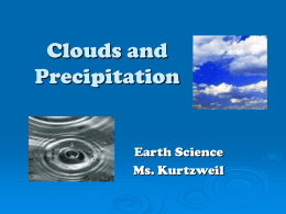 Clouds and Precipitation PP