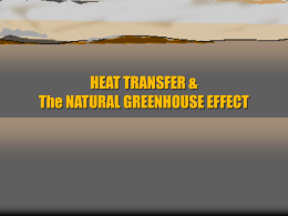 Heat Transfer & The Natural Greenhouse Effect