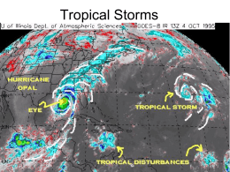13.3 Tropical Storms