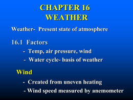 CHAPTER 15 WEATHER - Clearview Regional High School District