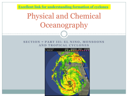 Physical and Chemical Oceanography III
