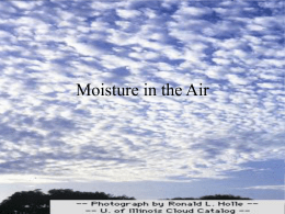 Moisture in the Air