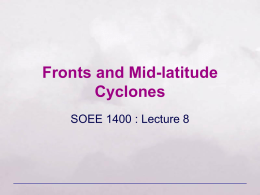 Air Masses, Fronts, and Mid