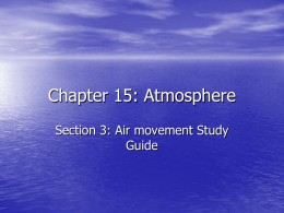 Chapter 15: Atmosphere