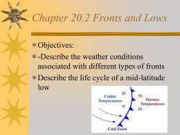 Chapter 20.2 Fronts and Lows