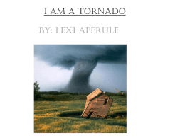 I am a tornado - Santee School District