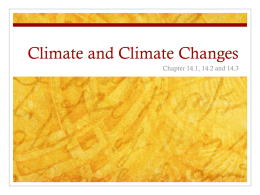 Climate and Climate Changes
