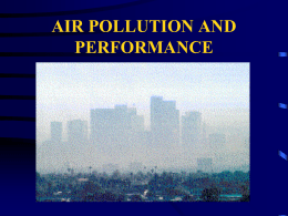 Air Pollution  - San Jose State University