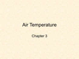 Chapter 3 – Air Temperature