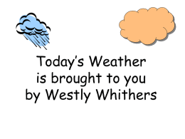 Today`s weather - Sope Creek Elementary
