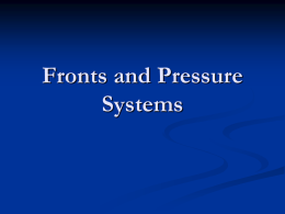 Fronts and Pressure Systems